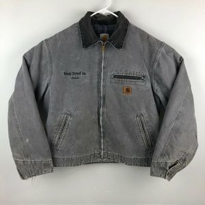90's Carhartt Distressed Blanket Lined Work Jacket